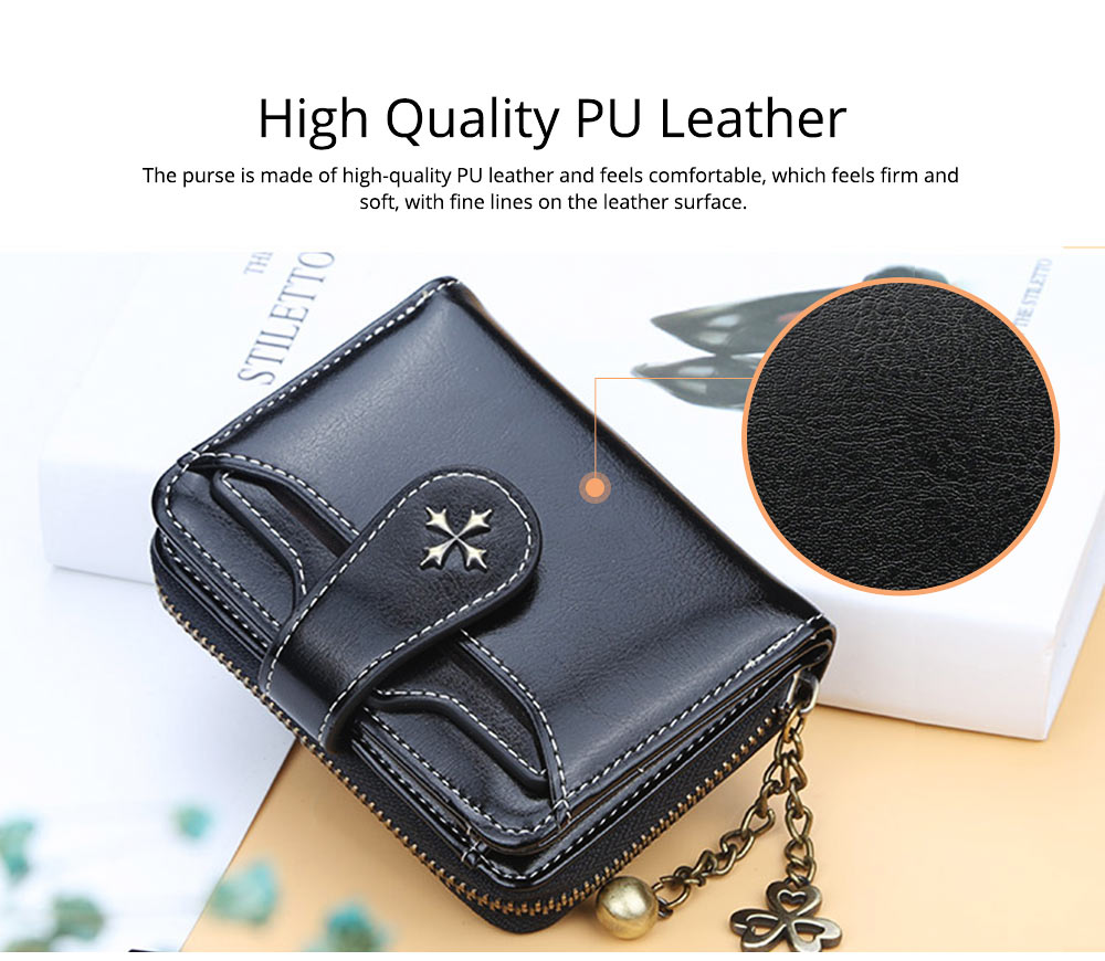 Baellery Short Purse for Women, PU Leather All-match Fashion Coin Purse Tassel Zipper Handbag Wallet 2019 New 1