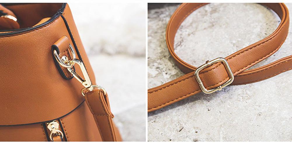 Lady Handbag PU Fashion Simple Hand Big Bag Shoulder Messenger For Women Middle-aged Mother 4