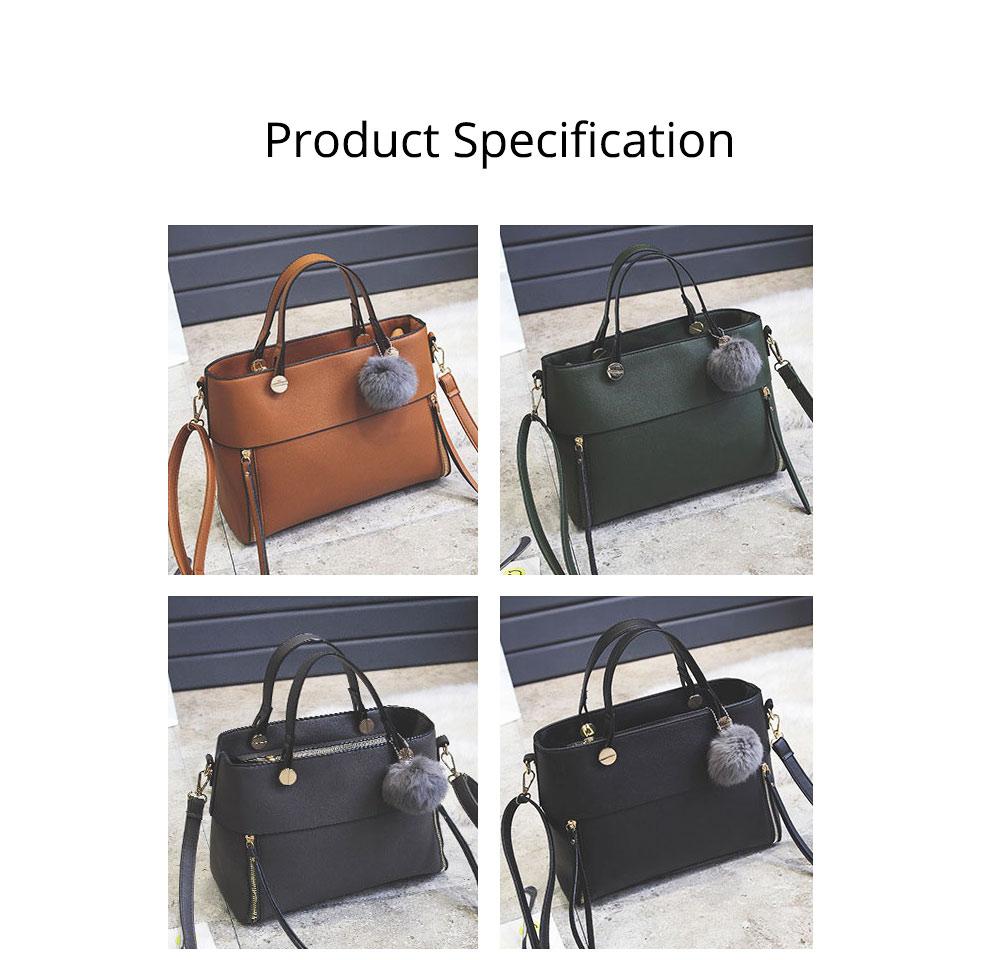 Lady Handbag PU Fashion Simple Hand Big Bag Shoulder Messenger For Women Middle-aged Mother 11