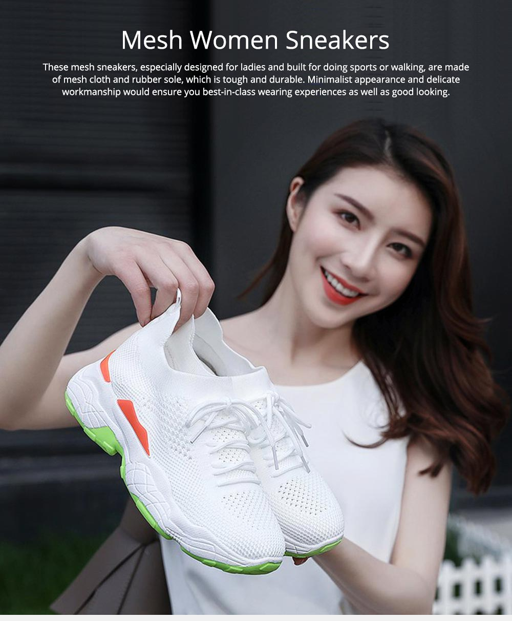 Minimalist Casual Breathable Mesh Women Sneakers, Comfortable Sports Running Gym Outdoors Shoes for Ladies 0