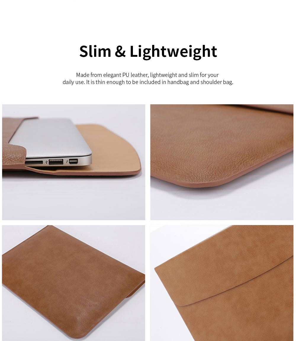 MacBook Pro Air Protective PU Case for Apple MacBook Air, Slim Lightweight Bag for Laptop, All-inside Synthetic Leather Sleeve for MacBook Air Pro 11 inch 12 inch 13 inch 15 inch 15.4inch 4