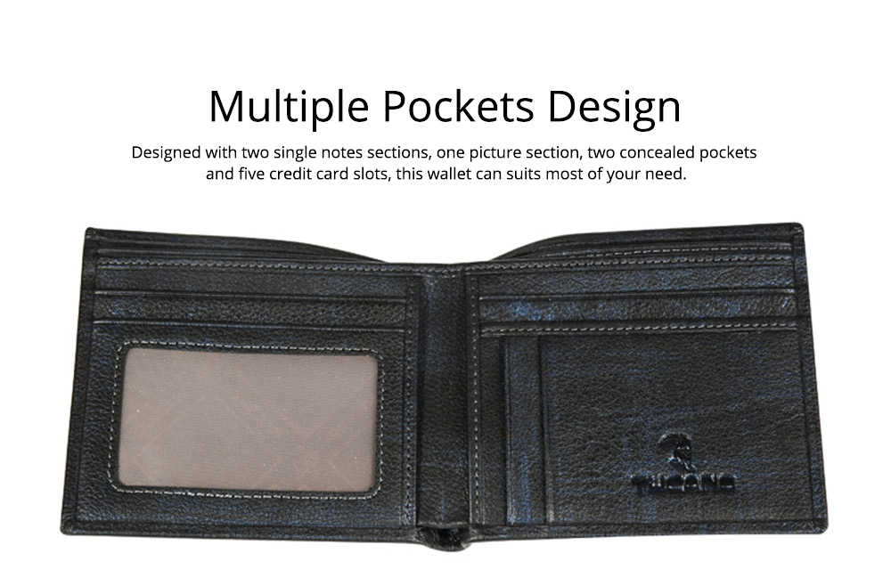 TUCANO Concise Style Genuine Wallet for Men, Full-grain Leather Material Fashionable Business Style Short Billfold 3