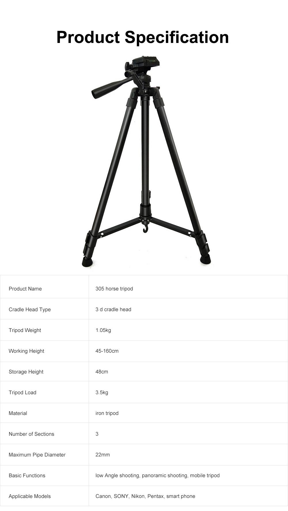 DSLR Camera Tripod with Horseshoe-shaped Design, Multifunctional Photography Camera Lightweight Portable Micro Tripod 6