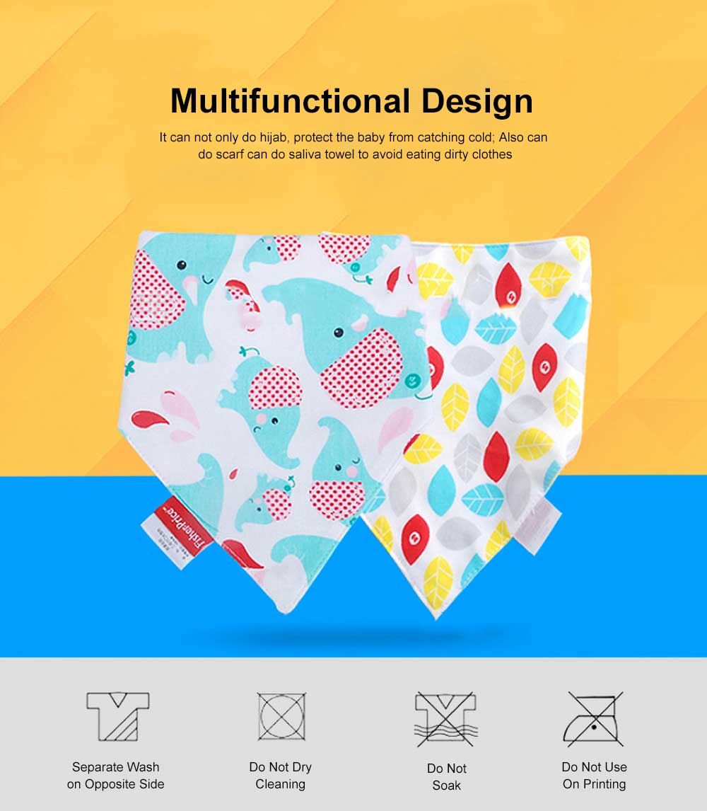 Ultra-soft Baby Bib & Cotton Super Soft Triangle Towel with Double Layer, Thickened, Double Buckle Design 1