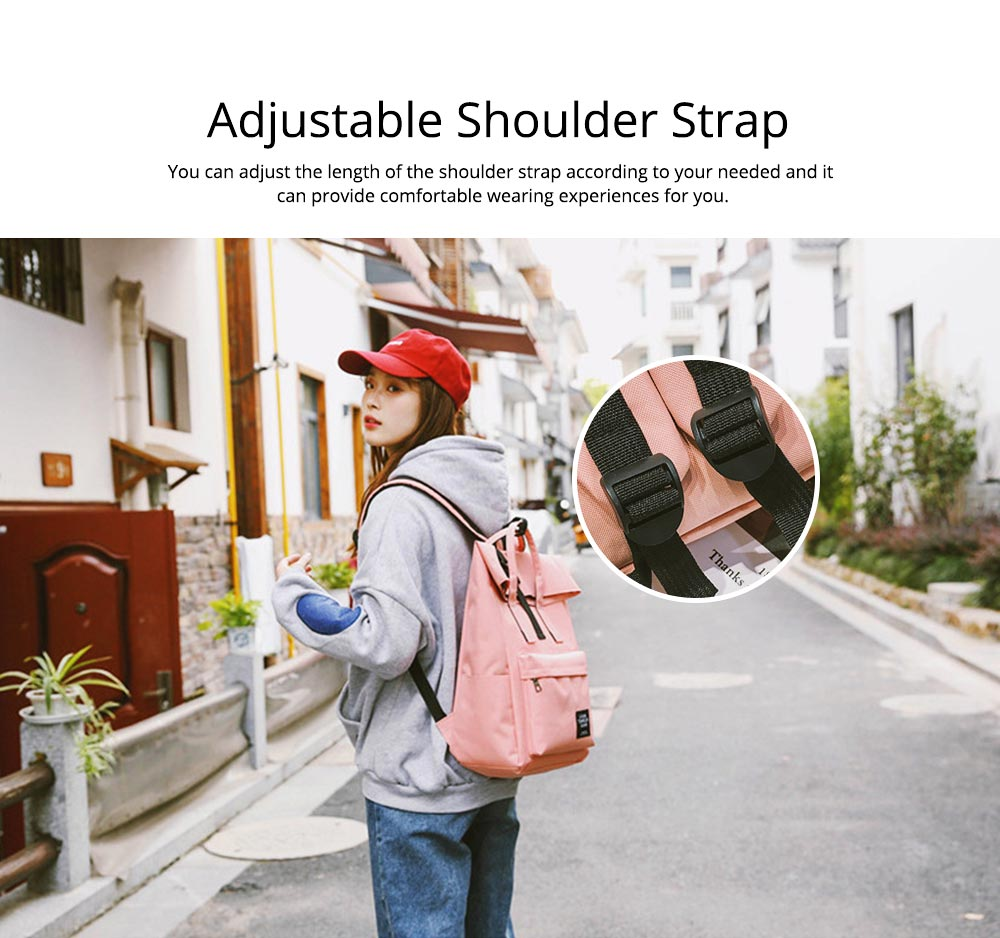 Minimalist Unisex Large Capacity Backpack with USB Charging Port, Waterproof Wearable Oxford Cloth Student Adult Shoulder Bag 7