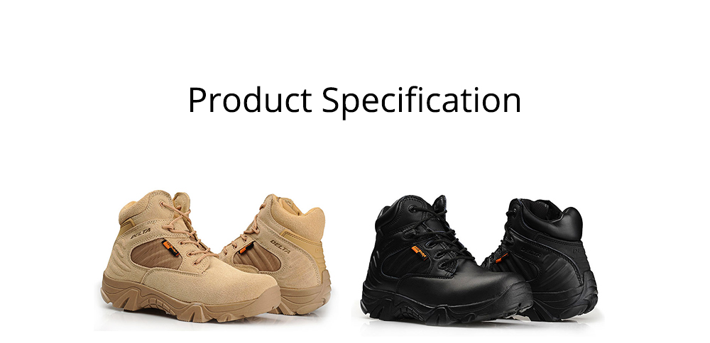 Unisex Comfortable Outdoors Low-cut Army Boots, Waterproof Breathable Combat Tactical Hiking Desert Shoes for Women Men 7