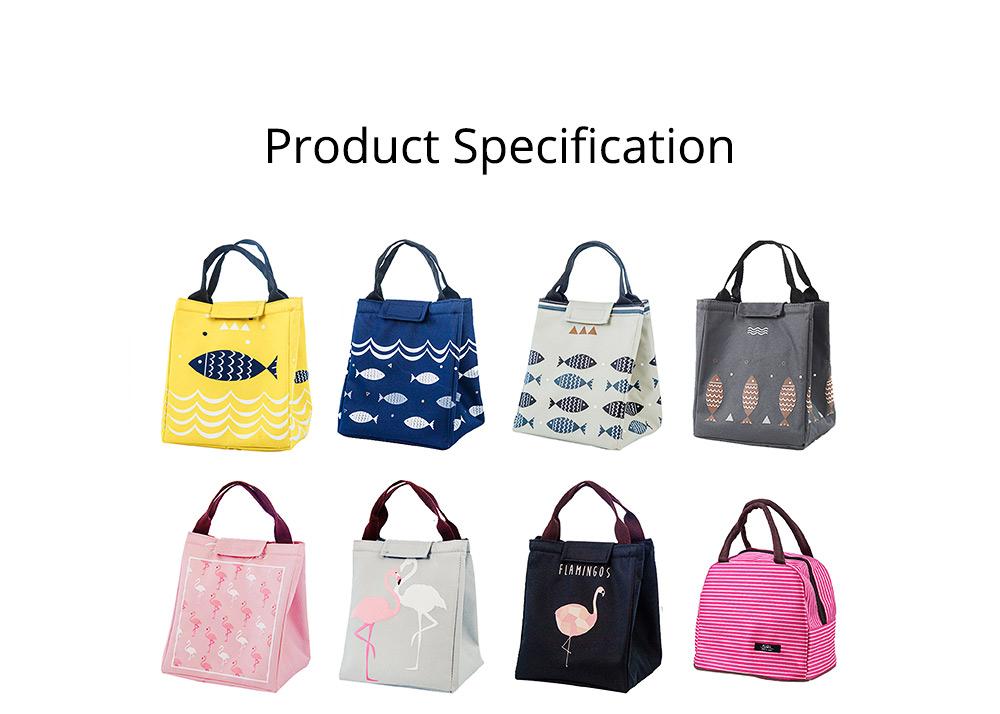 Unisex Heat Preservation Bag for Women Thickened Aluminum Foil Large Size Waterproof Lunch Bento Insulation Bag Handbag 7
