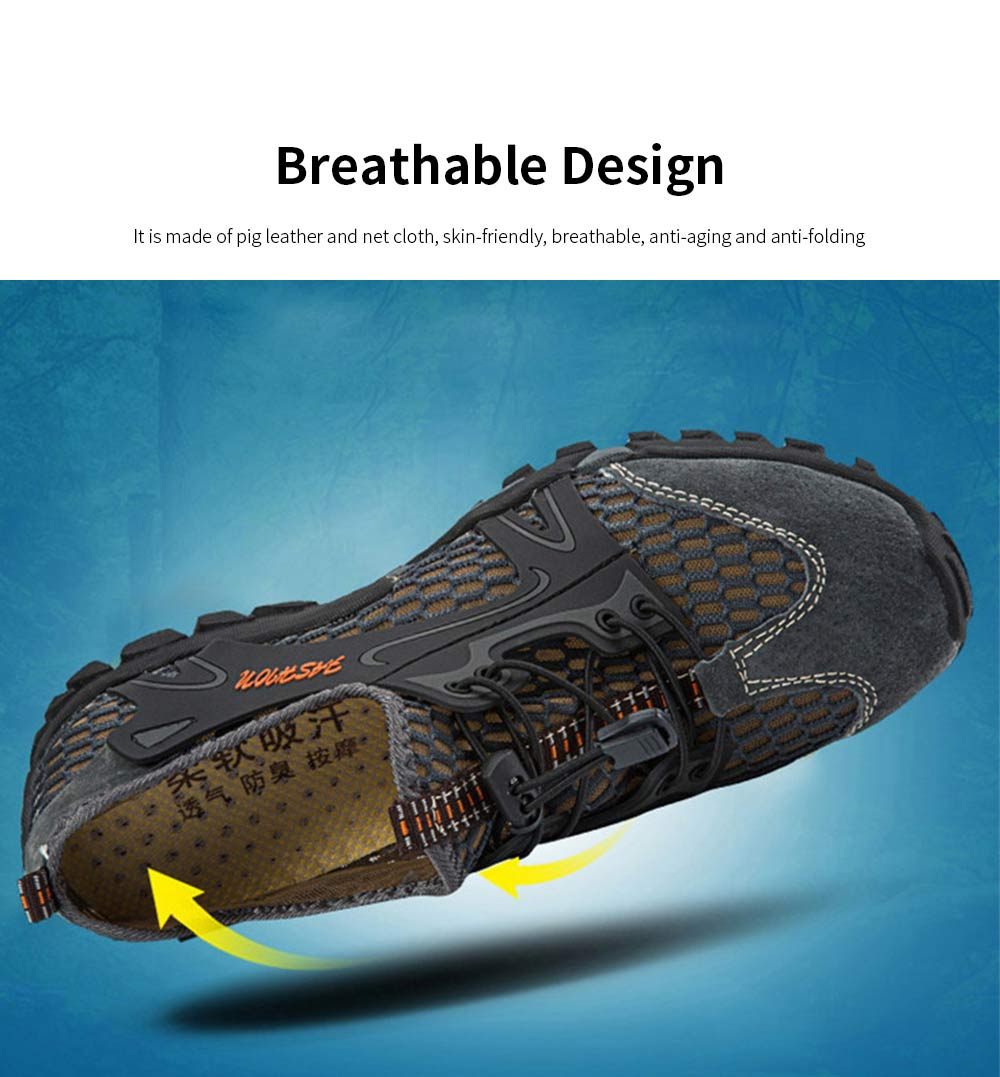 Breathable Mountaineering Shoes for Men, Anti-Slip Hiking Shoes Comfortable & Durable Hiking Shoes 2