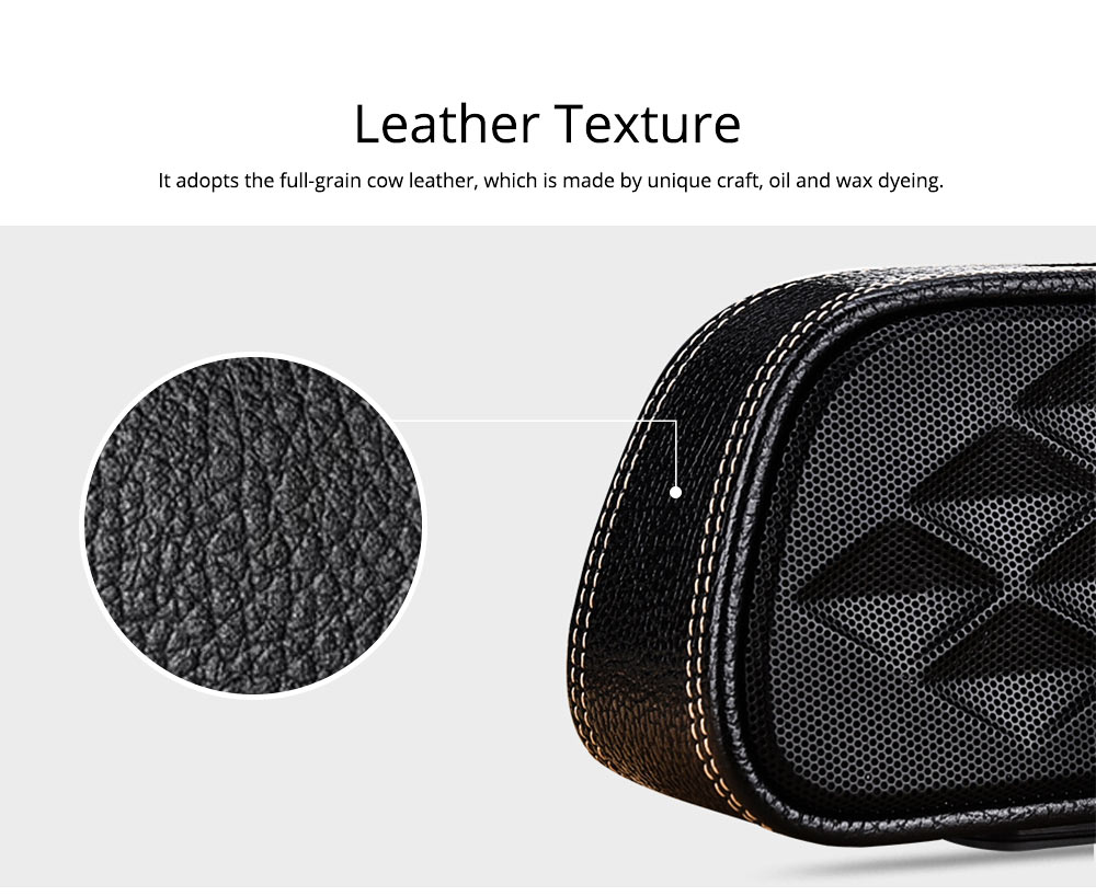 Portable Outdoor Smart Bluetooth Speaker, Full-grain Cow leather Superior Texture Touch Control Loud Speaker Box for Square Dancing 1