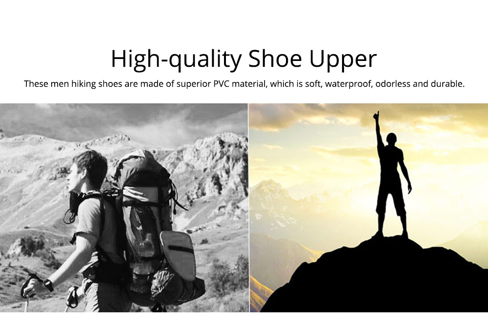 Outdoors Casual Traveling Men Hiking Shoes, Wearable Anti-slip Walking Trekking Sneakers for Men 1