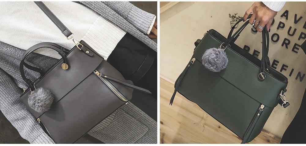 Lady Handbag PU Fashion Simple Hand Big Bag Shoulder Messenger For Women Middle-aged Mother 8