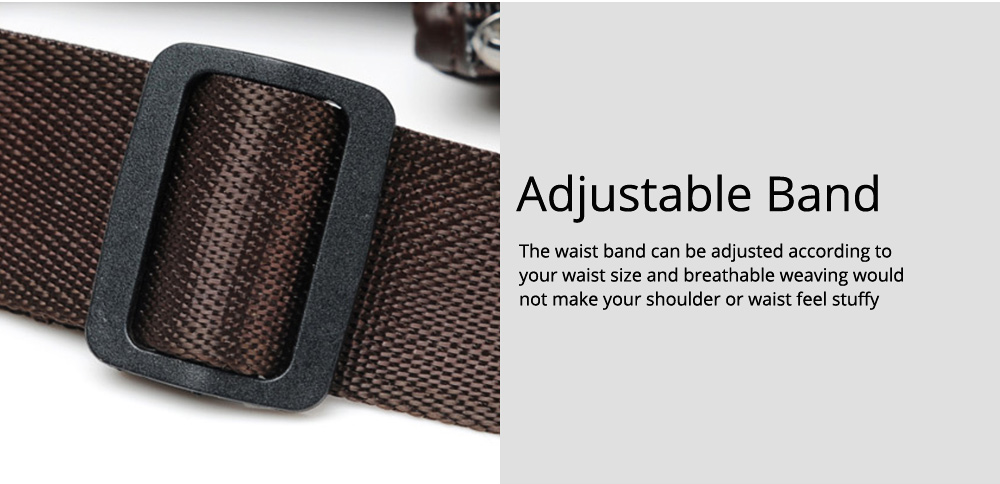 Minimalist Soft PU Leather Functional Men Waist Bag, Business Outdoors Sport Waist Shoulder Bag Wallet 7