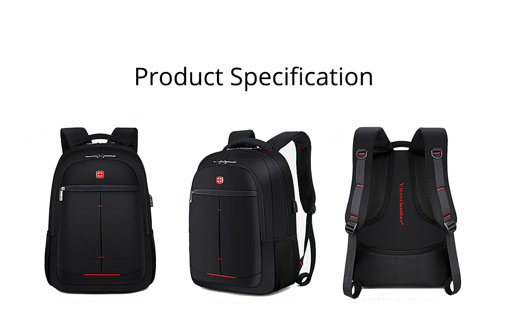 Minimalist Unisex Black Waterproof Travel Backpack, Quality Business Students Laptop Shoulder Bag for Men Women 13