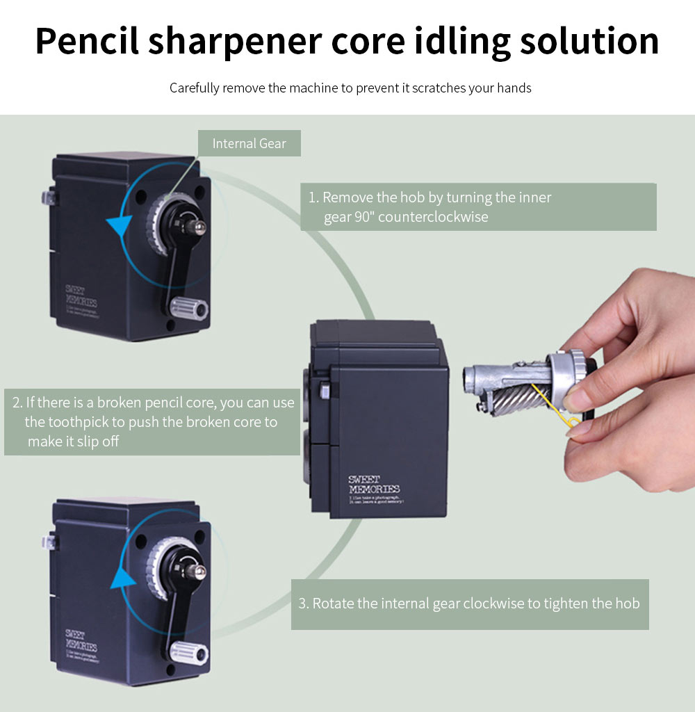 Camera Shape Hand-actuated Pencil Sharper for Students, Teachers, Vintage Simulation Camera Manual Pencil Sharper 9