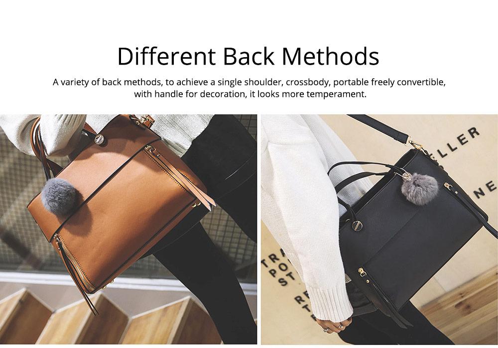 Lady Handbag PU Fashion Simple Hand Big Bag Shoulder Messenger For Women Middle-aged Mother 7