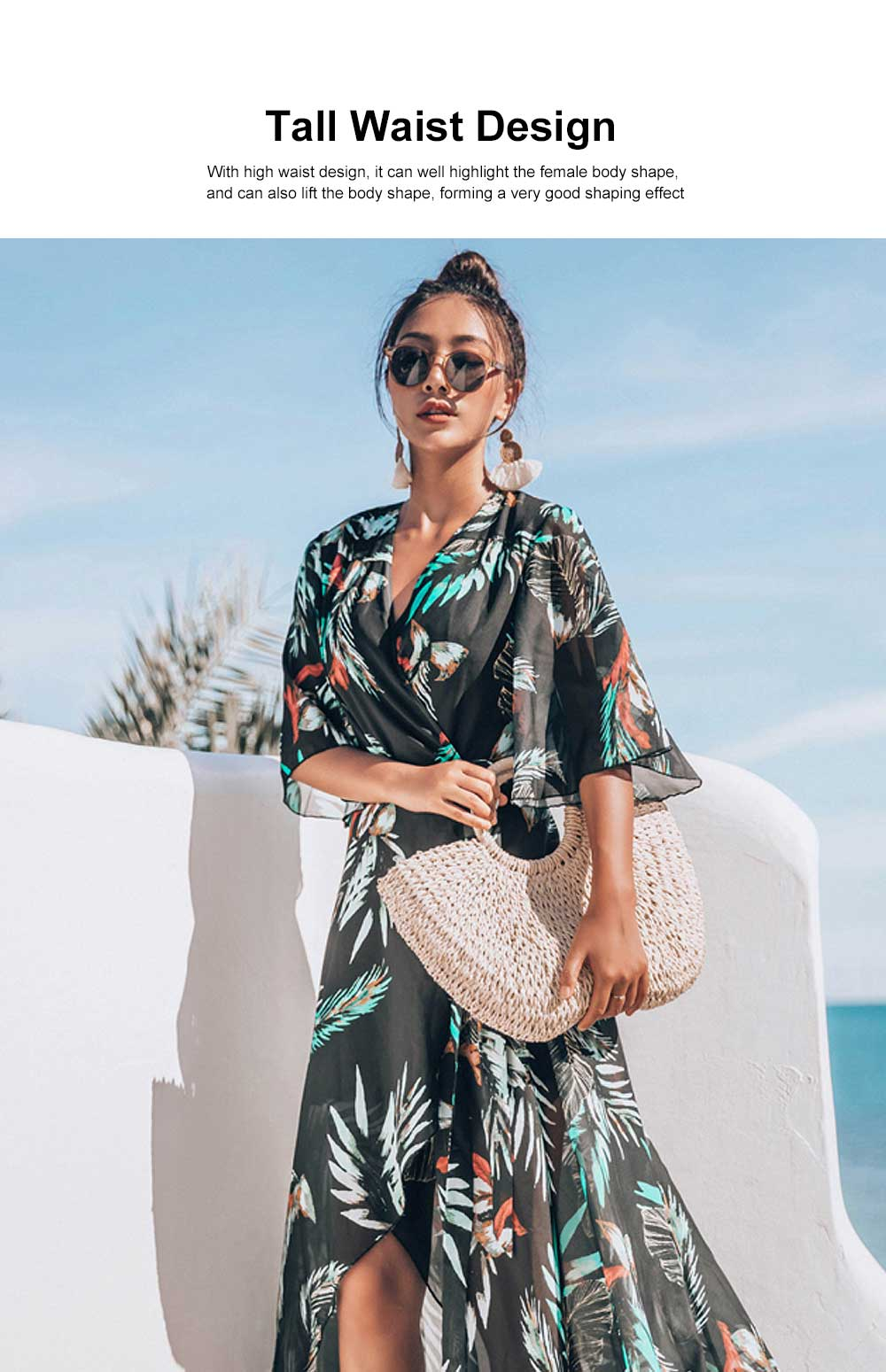 Comfortable & Ultra-soft Chiffon Long Sun Block for Beach Wear Bikini Tops for Women 1