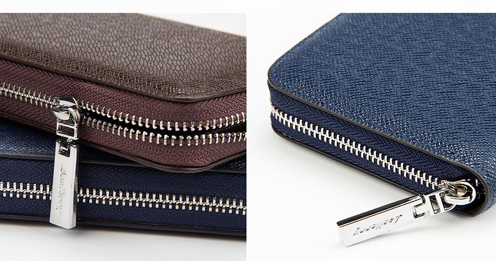 Baellerry Long Wallet for Men PU Leather Large Capacity Zipper Multiple Card Position Change Bag Handbag 5