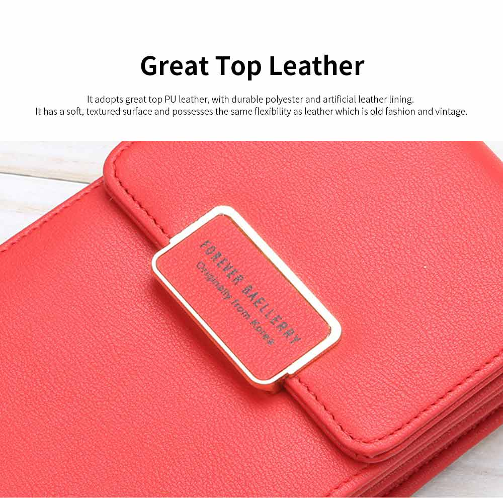 Women PU Leather Roomy Pocket Cell Phone Purse for Women, Functional Crossbody Bag 5 Colors Available for Ladies 1