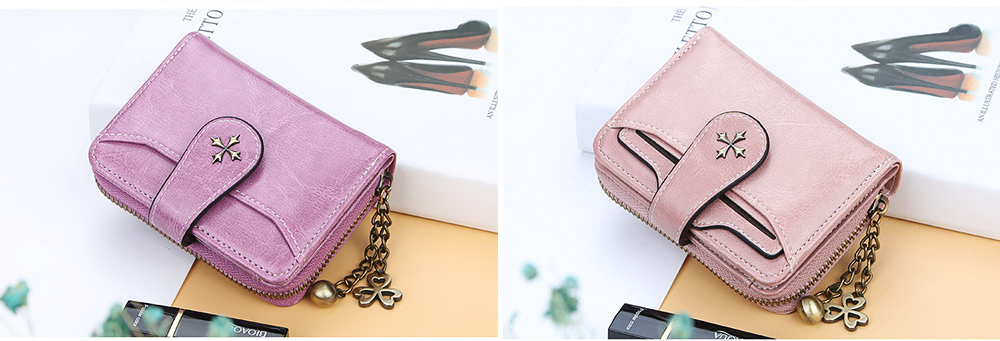 Baellery Short Purse for Women, PU Leather All-match Fashion Coin Purse Tassel Zipper Handbag Wallet 2019 New 4