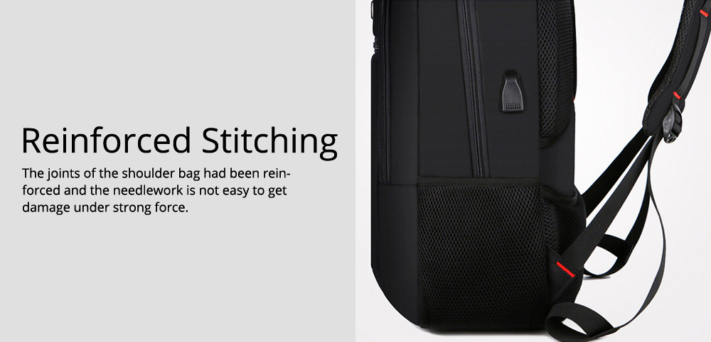 Minimalist Unisex Black Waterproof Travel Backpack, Quality Business Students Laptop Shoulder Bag for Men Women 3