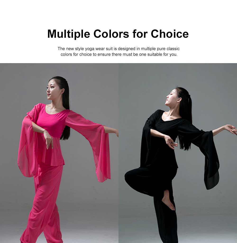 Yoga Dress Suit White Dancing Wear with Long Sleeves, Women Elegant Slim-fitting Performance Wear, Formal Dancing Dress Suit 1