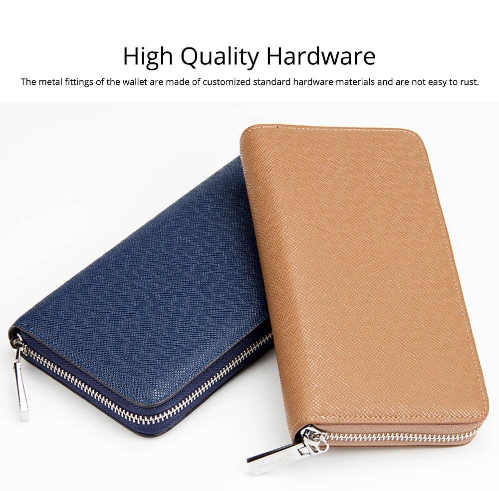 Baellerry Long Wallet for Men PU Leather Large Capacity Zipper Multiple Card Position Change Bag Handbag 4