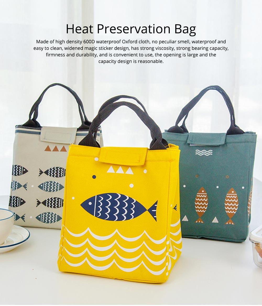Unisex Heat Preservation Bag for Women Thickened Aluminum Foil Large Size Waterproof Lunch Bento Insulation Bag Handbag 0