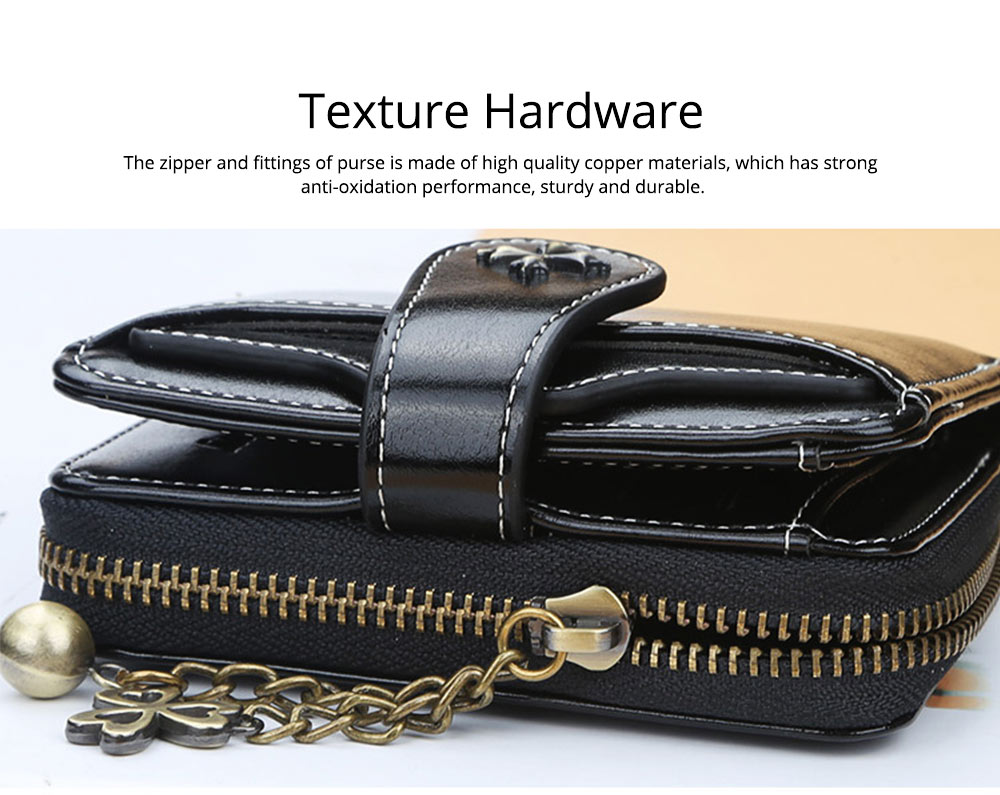 Baellery Short Purse for Women, PU Leather All-match Fashion Coin Purse Tassel Zipper Handbag Wallet 2019 New 2