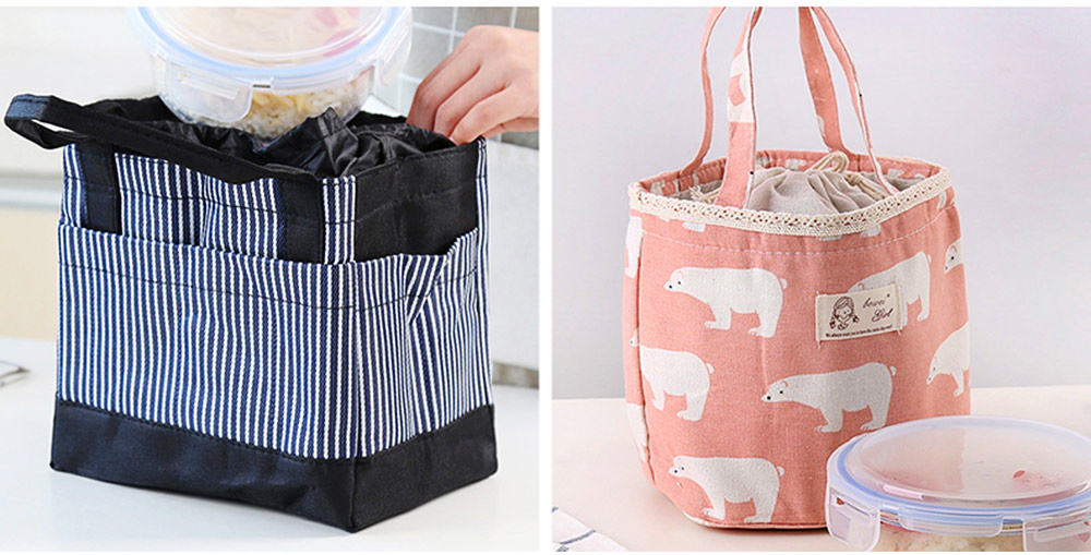 Unisex Heat Preservation Bag for Women Thickened Aluminum Foil Large Size Waterproof Lunch Bento Insulation Bag Handbag 6