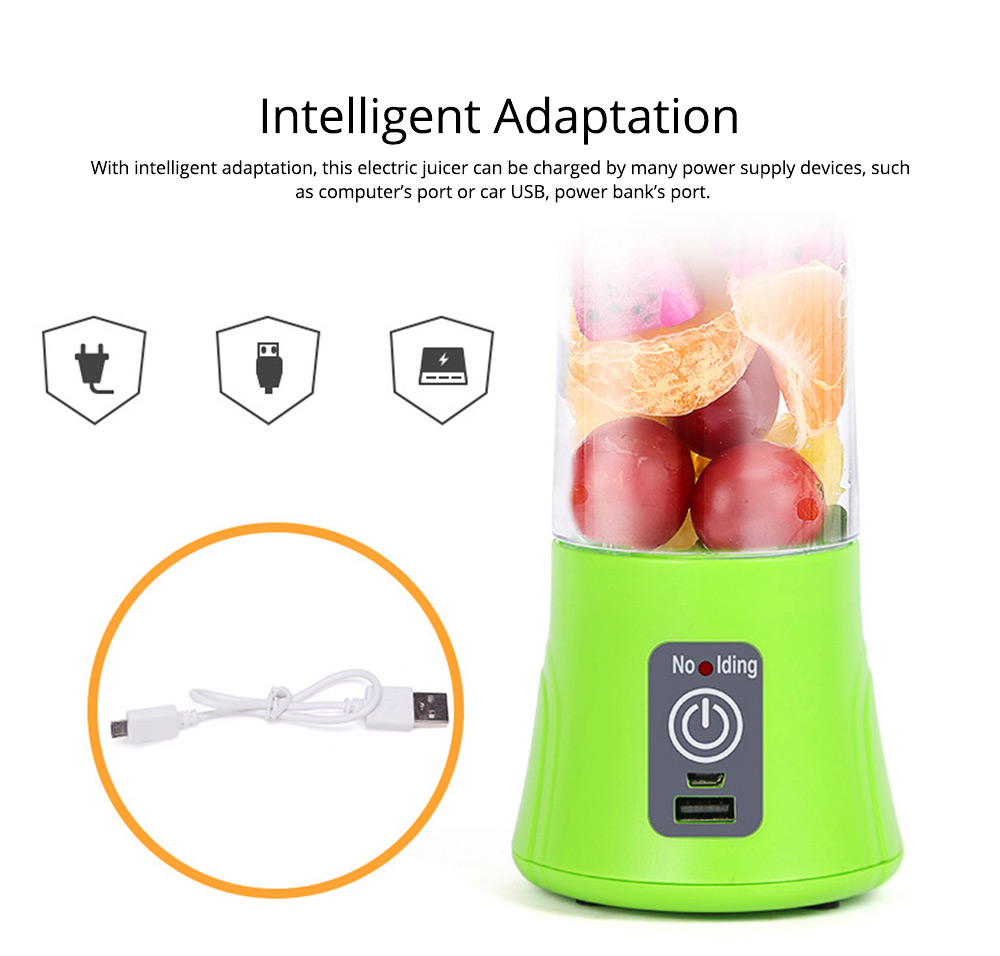 Portable Handy Household Electric Juicer, Multifunctional Juice Extractor Kitchen Tools with Power Bank Function 5