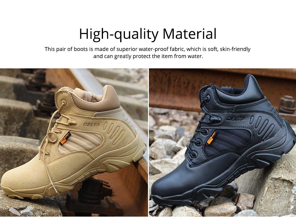 Unisex Comfortable Outdoors Low-cut Army Boots, Waterproof Breathable Combat Tactical Hiking Desert Shoes for Women Men 1