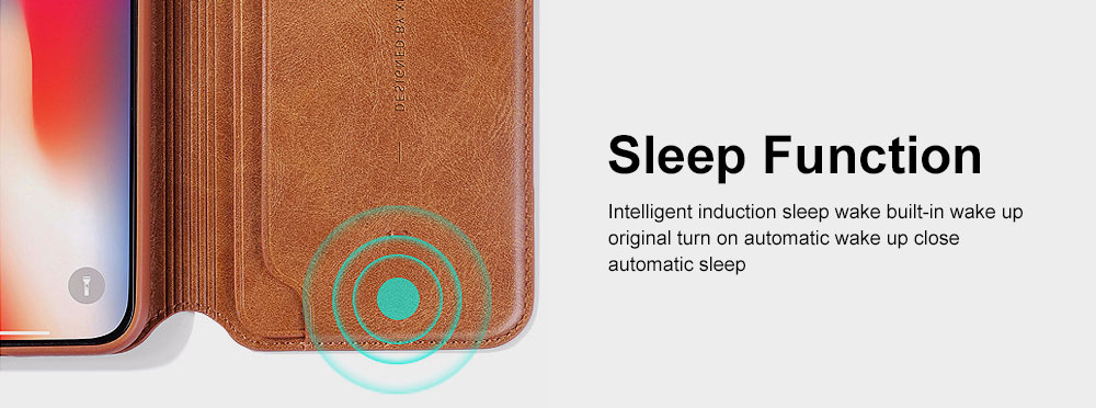 Ultra-soft Genuine Leather Crash-resistant Phone Case Pouch with Soft Shell Edge Designed with dormancy Function & Card Slot for iPhone 6.5 inch, 6.1 inch, 5.8 inch 6