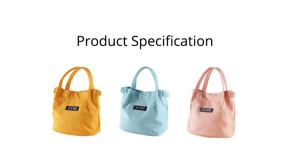 Canvas Bag Environmental Protection Portable Folding Simple Style Hand Bag Compartments Bento Bag 7