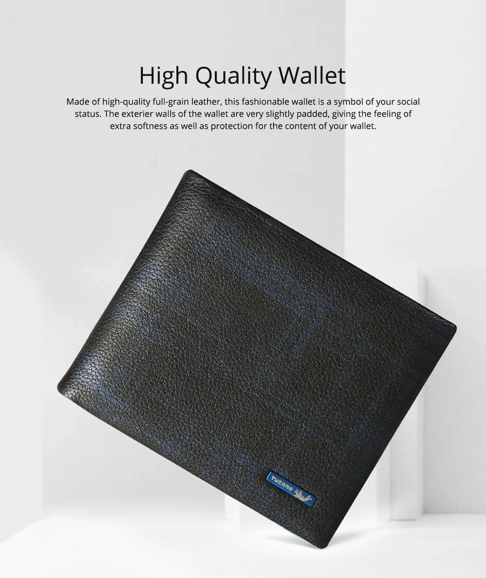 TUCANO Concise Style Genuine Wallet for Men, Full-grain Leather Material Fashionable Business Style Short Billfold 0