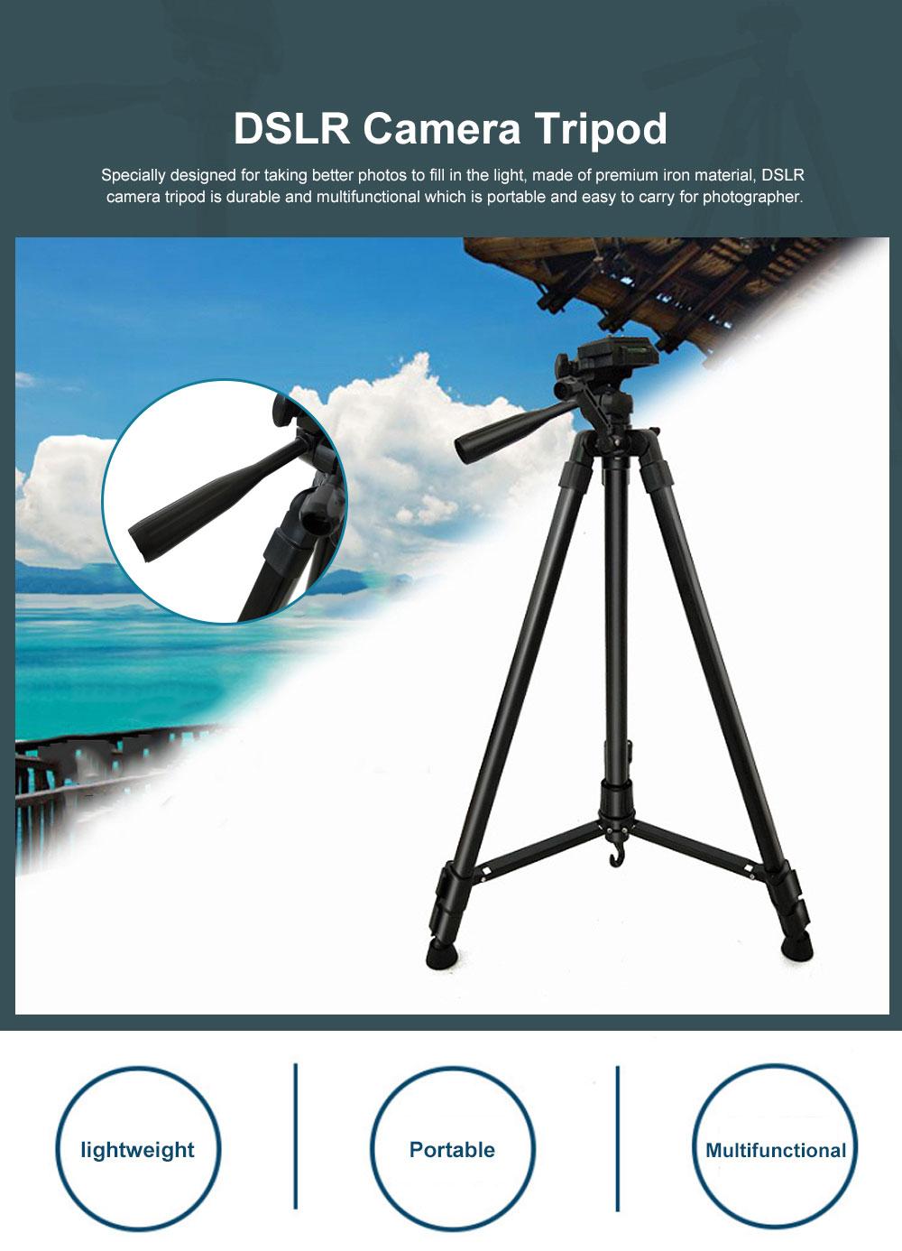 DSLR Camera Tripod with Horseshoe-shaped Design, Multifunctional Photography Camera Lightweight Portable Micro Tripod 0