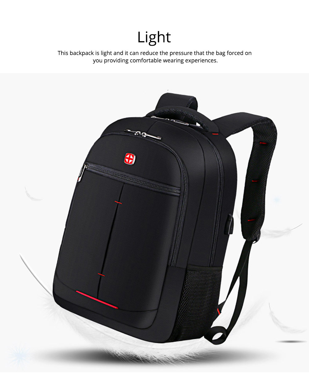 Minimalist Unisex Black Waterproof Travel Backpack, Quality Business Students Laptop Shoulder Bag for Men Women 8