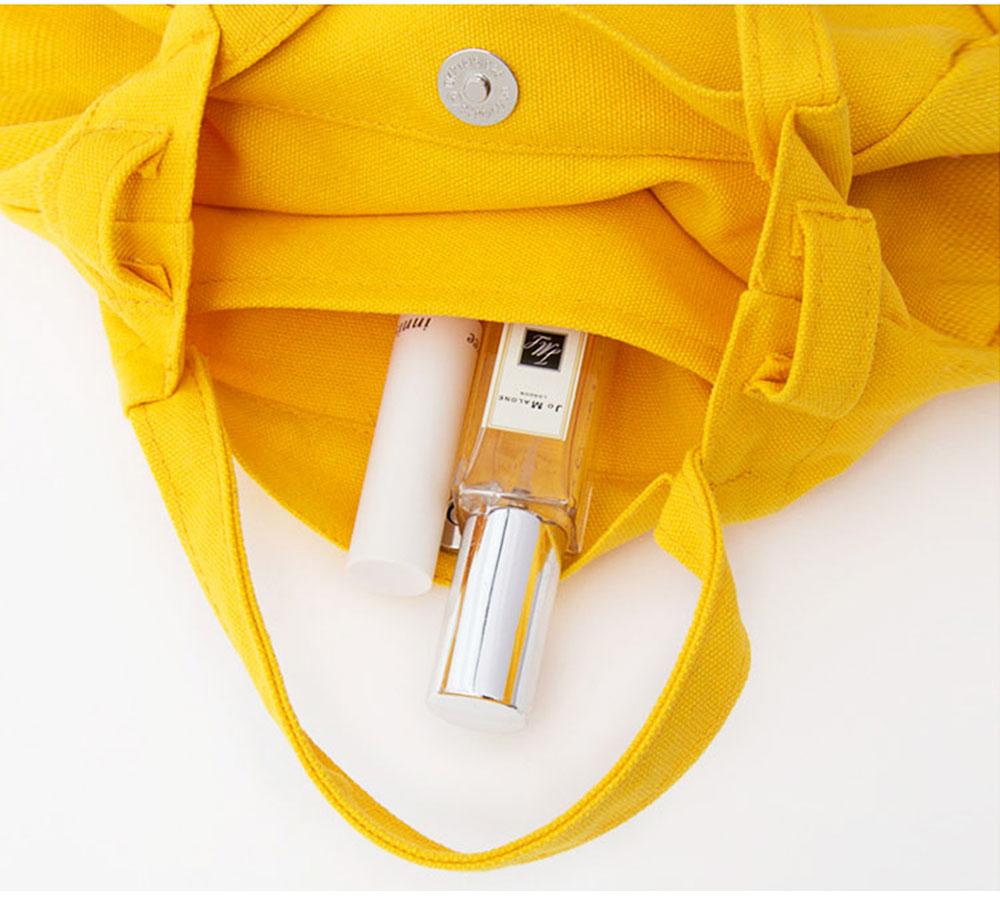Canvas Bag Environmental Protection Portable Folding Simple Style Hand Bag Compartments Bento Bag 6