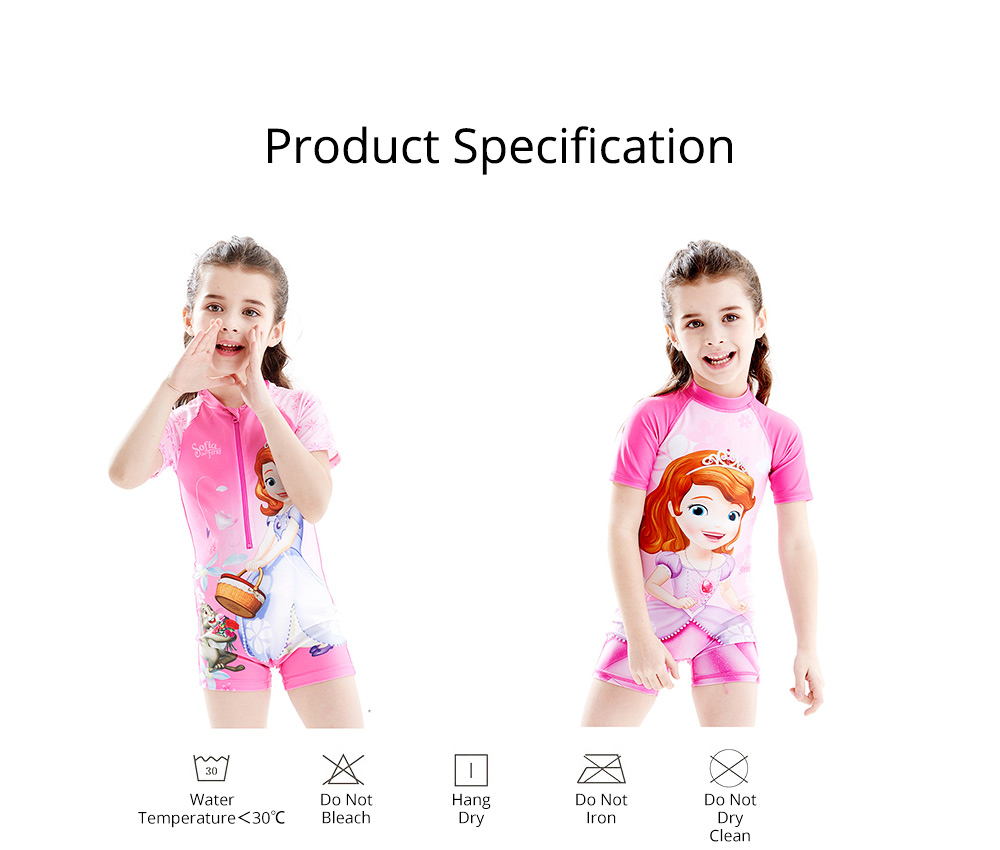Cute Carton Frozen Elsa Painting Girl Swimwear, Skin-friendly Quick-dry Polyester Children Beach Surfing Wetsuit 6