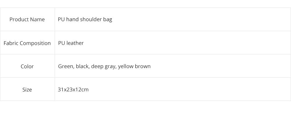 Lady Handbag PU Fashion Simple Hand Big Bag Shoulder Messenger For Women Middle-aged Mother 12