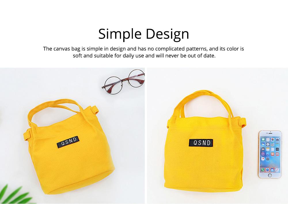 Canvas Bag Environmental Protection Portable Folding Simple Style Hand Bag Compartments Bento Bag 5