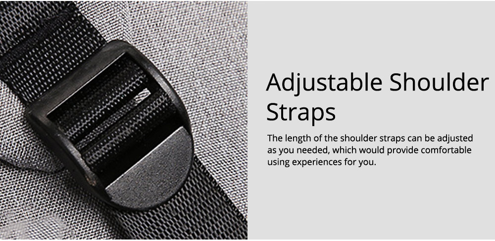 Multifunctional Minimalist Water-proof Student Backpack, Outdoors Travel Shoulder Bag with USB Charging Port Earphone Hole 8