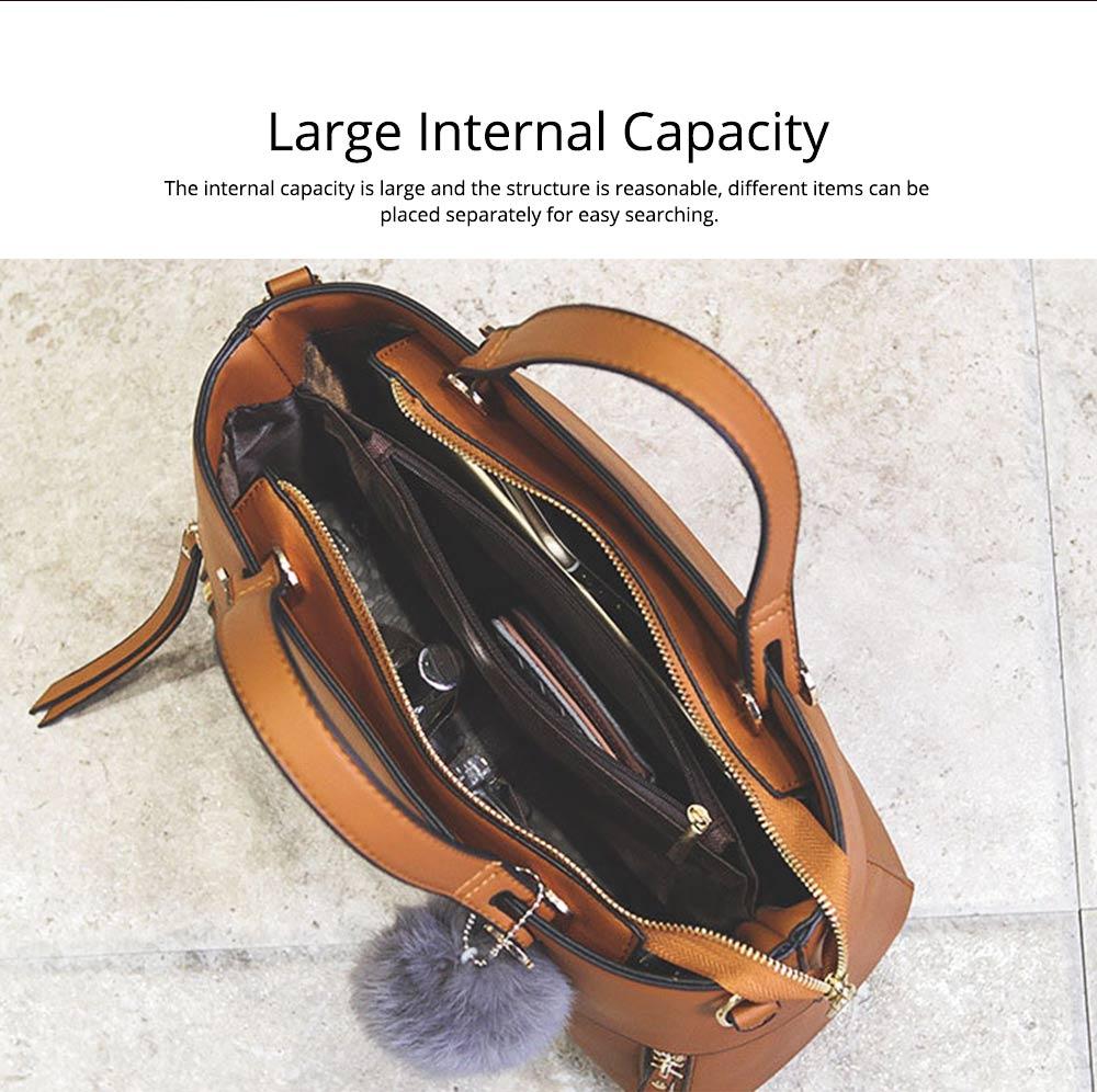 Lady Handbag PU Fashion Simple Hand Big Bag Shoulder Messenger For Women Middle-aged Mother 1