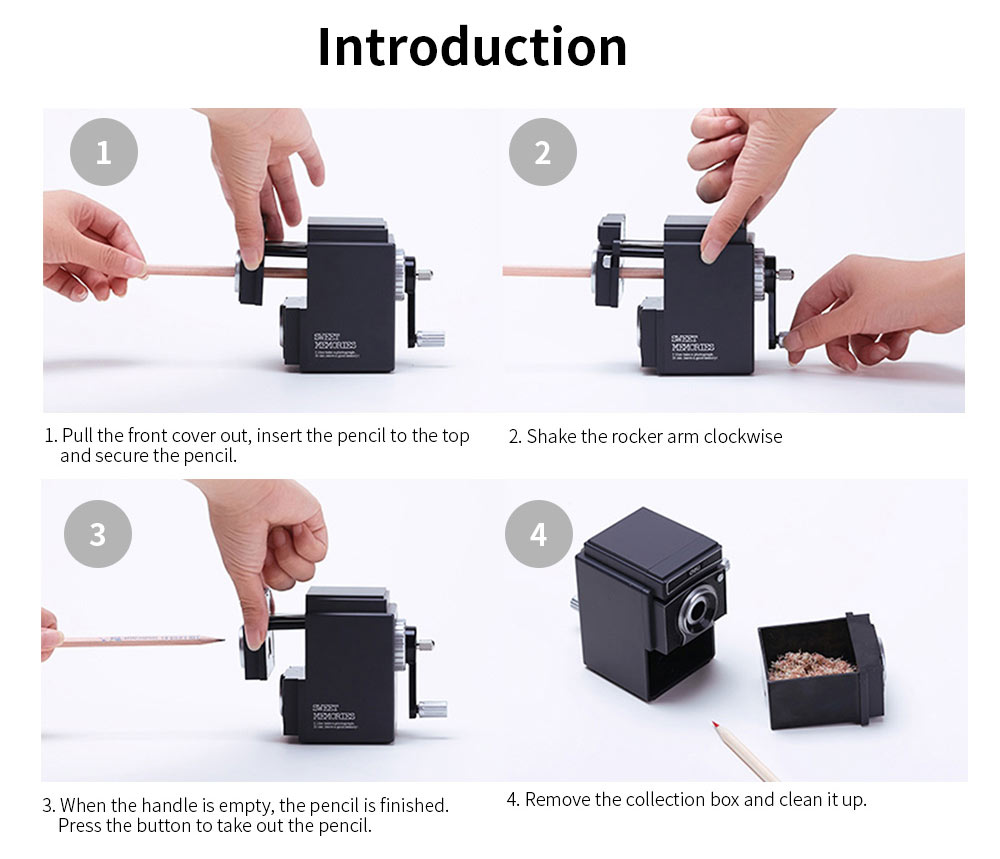 Camera Shape Hand-actuated Pencil Sharper for Students, Teachers, Vintage Simulation Camera Manual Pencil Sharper 8