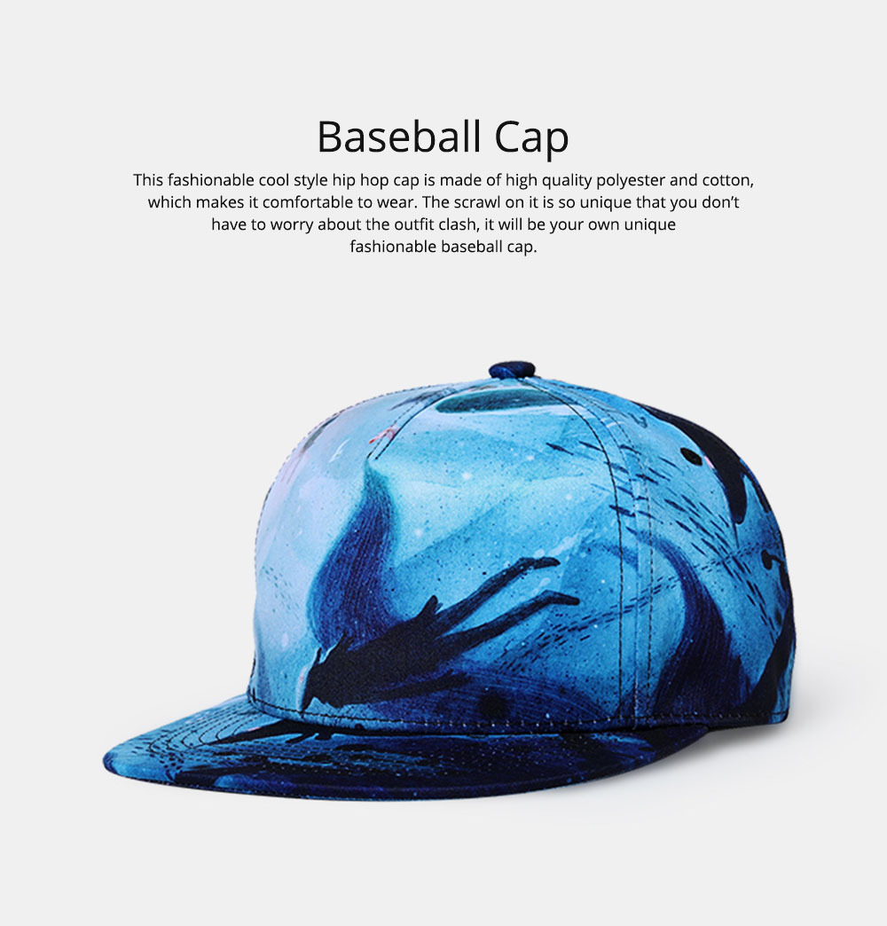 2019 Latest Baseball Cap for Men and Women, Neuter 3D Printing Style Outdoor Fashionable Hip Hop Cap Breathable 0