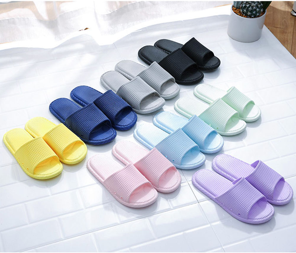 Summer Slippers PVC Anti-slip Soft for Couples Stain Resistant Comfortable Household Bathroom Slippers 2019 New 2