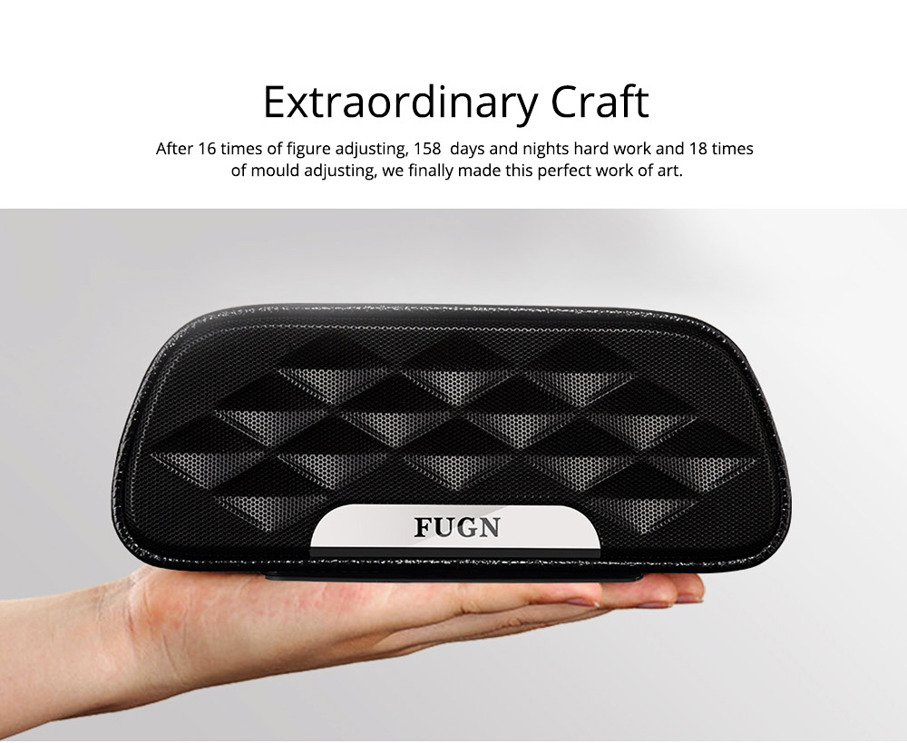 Portable Outdoor Smart Bluetooth Speaker, Full-grain Cow leather Superior Texture Touch Control Loud Speaker Box for Square Dancing 2