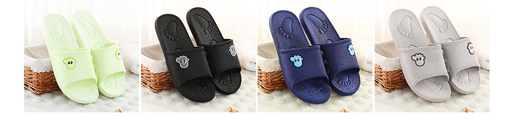 Non-slip Leaking Summer Cartoon Bath Shoes Bathroom Slippers Casual Household for Women and Men Couples 8