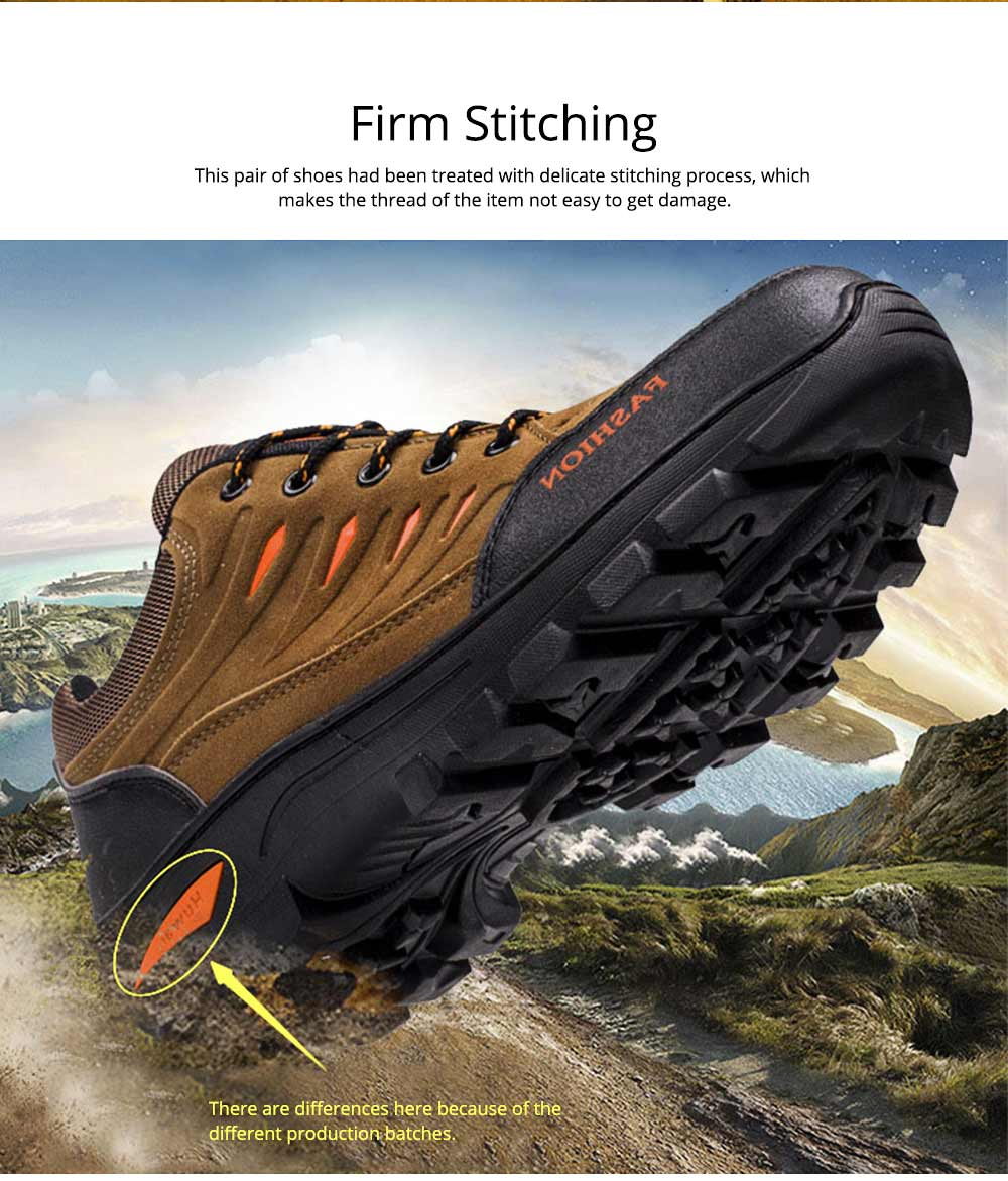 Outdoors Casual Traveling Men Hiking Shoes, Wearable Anti-slip Walking Trekking Sneakers for Men 7