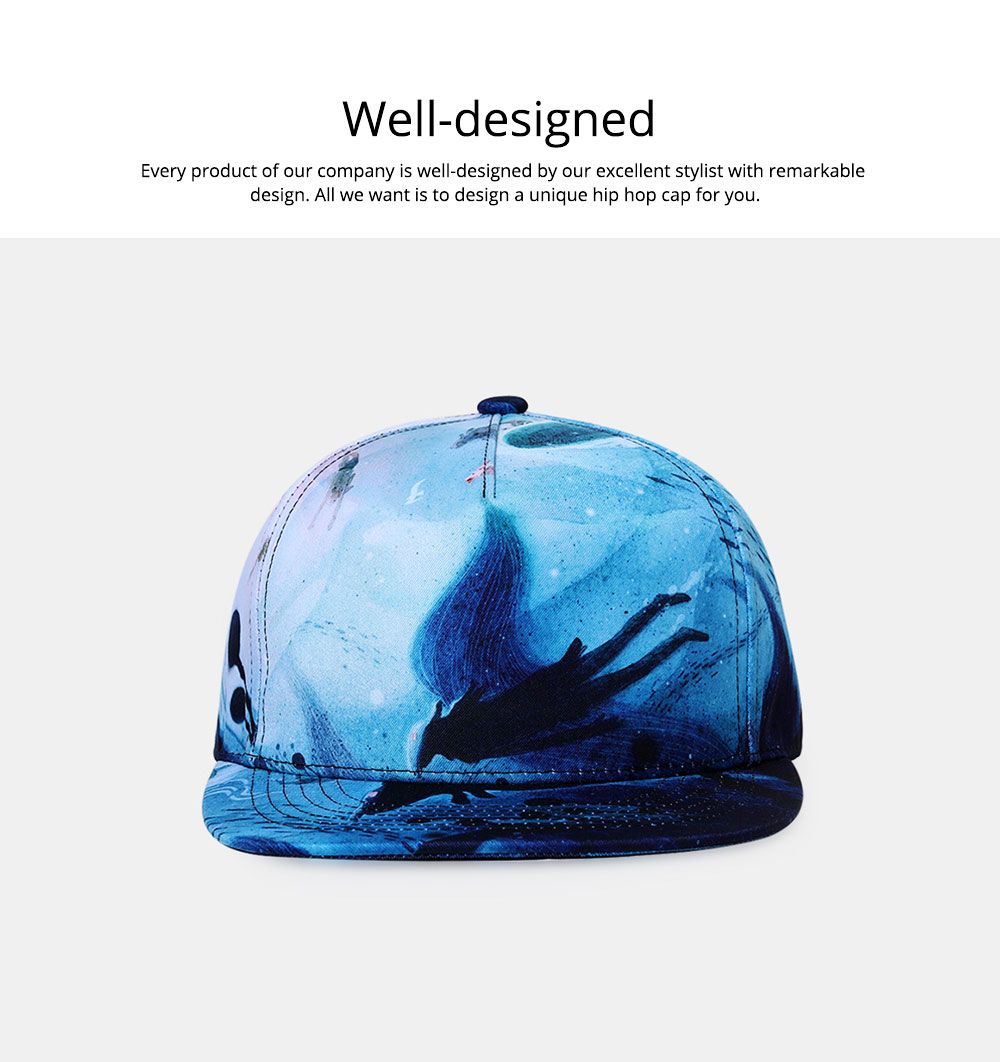 2019 Latest Baseball Cap for Men and Women, Neuter 3D Printing Style Outdoor Fashionable Hip Hop Cap Breathable 1