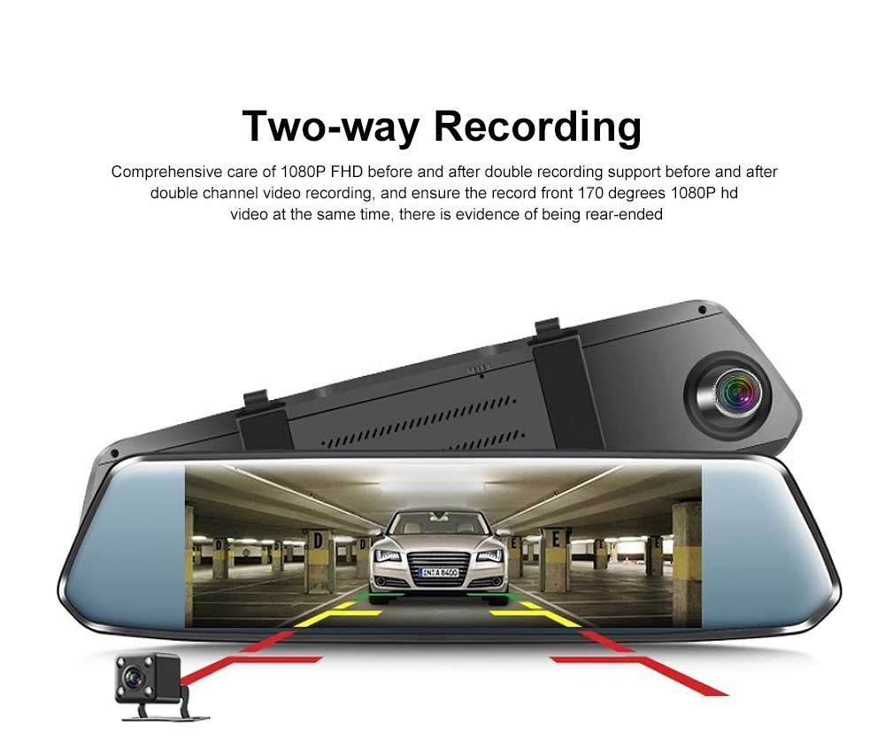 7 inch IPS Rear-view Mirror Recorder Equipped with Touch Function of 1080P High-definition Dual Recording 2
